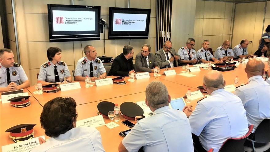 """Torra expresa su """"pleno apoyo"""" a los Mossos tras el ataque de Cornellà"""