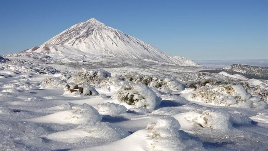 El Teide, tras una fuerte nevada