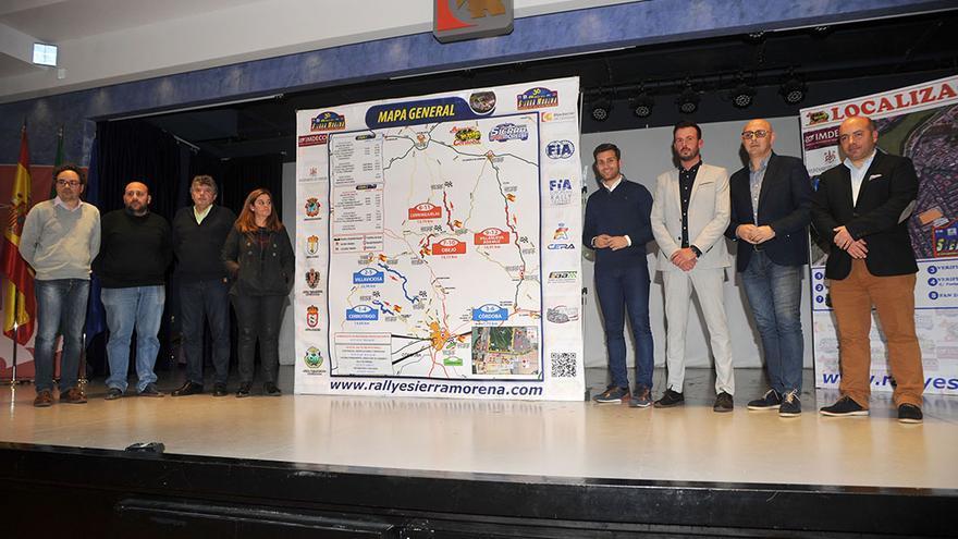 Presentación del recorrido del Rally Sierra Morena en la Diputación.