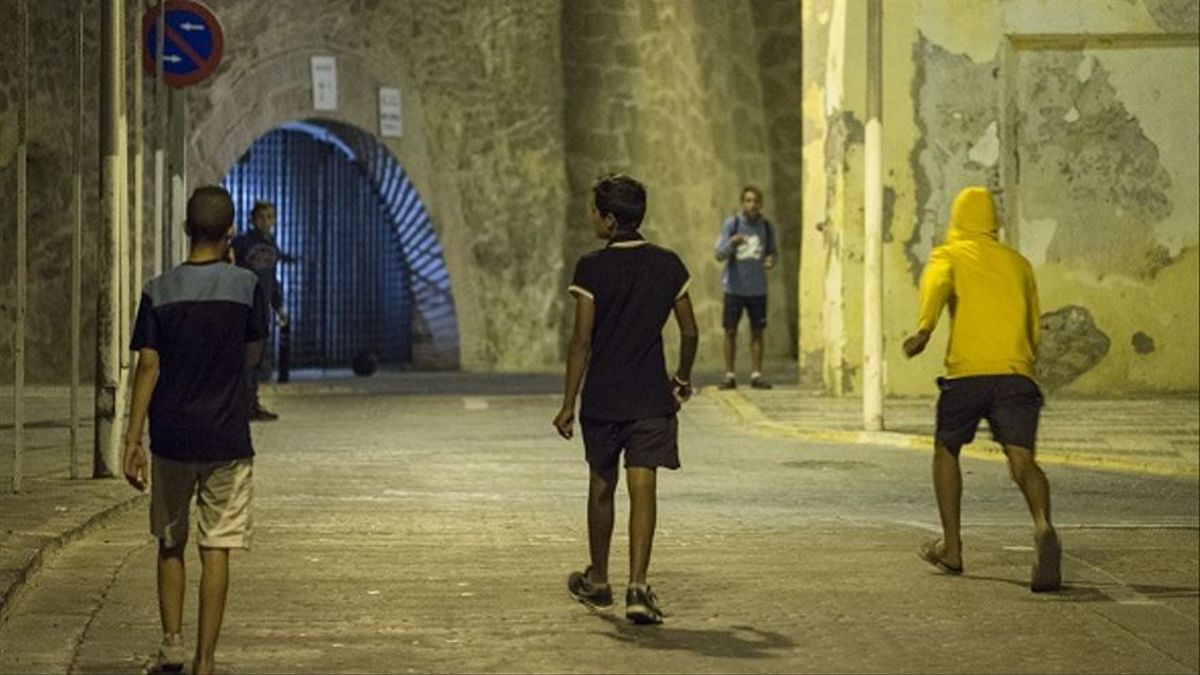 Menores extranjeros no acompañados (MENAS) en Melilla Fuente: Pedro Armestre / Save the Children