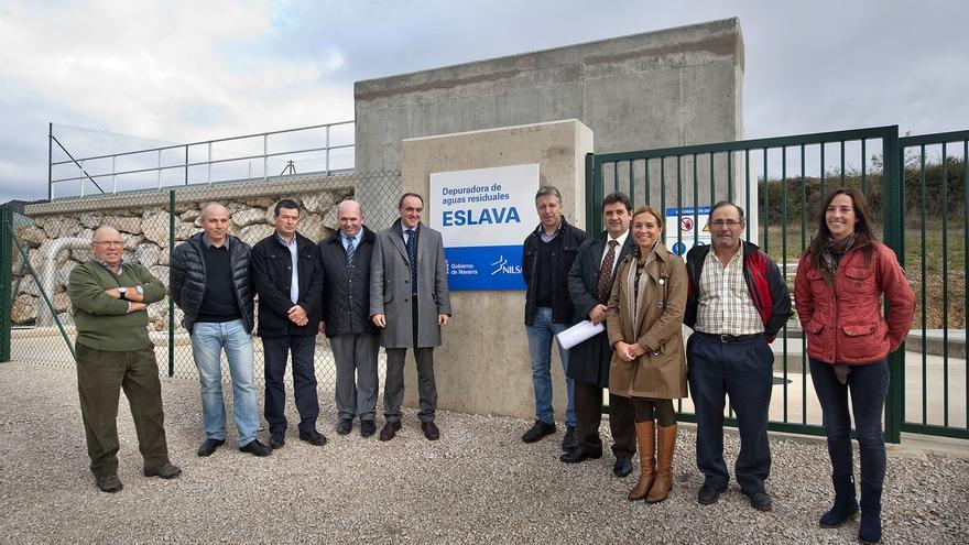La nueva depuradora de Eslava ya da servicio a sus 133 habitantes