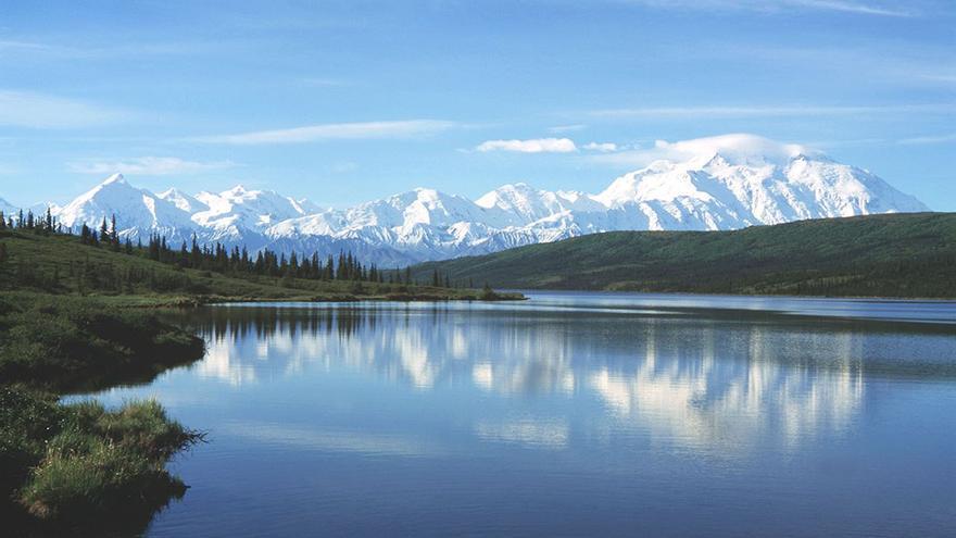 Parque nacional y reserva Denali, situado en Alaska interior y contiene el monte Denali. (DP).