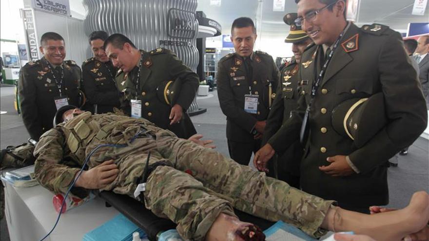 Empresas de 26 países participan en la feria de tecnología militar de Lima