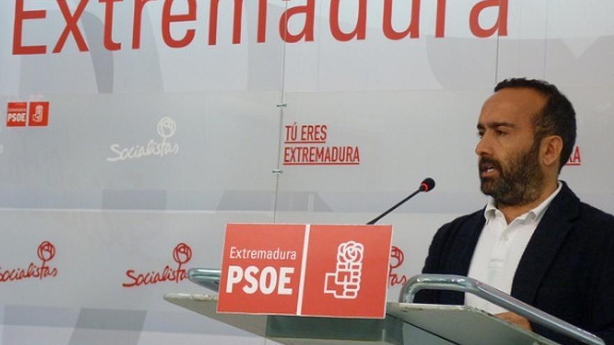 Portavoz del PSOE de Extremadura, Miguel Ángel Morales