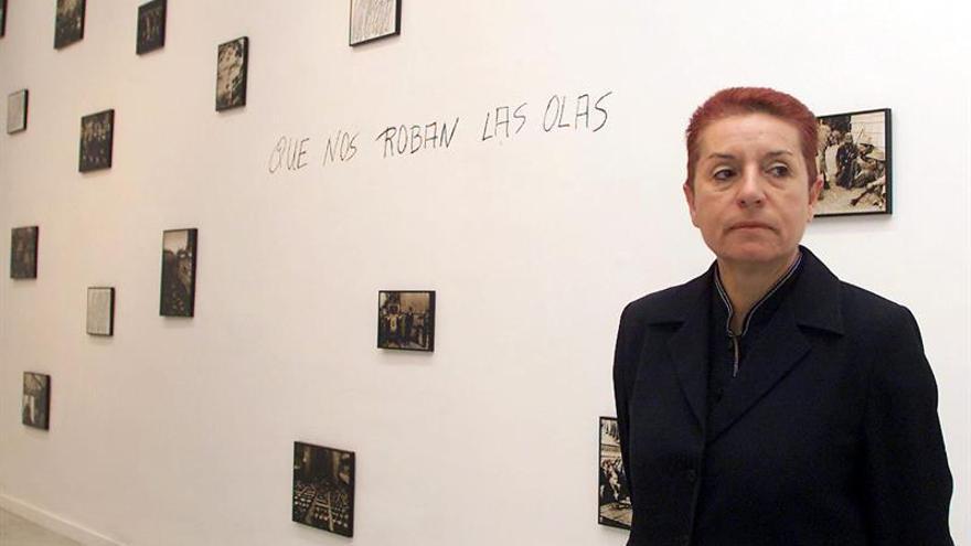 Concha Jerez, galardonada con el premio nacional de Artes Plásticas 2015. EFE/Cristóbal García