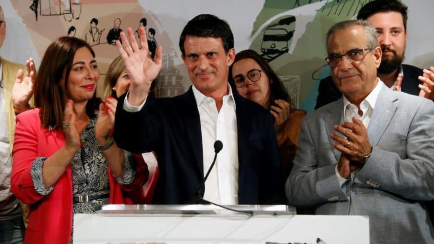 """Valls queda cuarto y admite su """"fracaso"""" al no frenar a ERC y a Colau"""