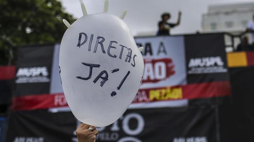 La izquierda exige la salida de Temer y elecciones en Brasil
