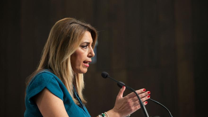 """Susana Díaz, preocupada porque Casado diga que """"le suenan bien"""" los mensajes """"xenófobos"""" que lanzó Vox en Vistalegre"""