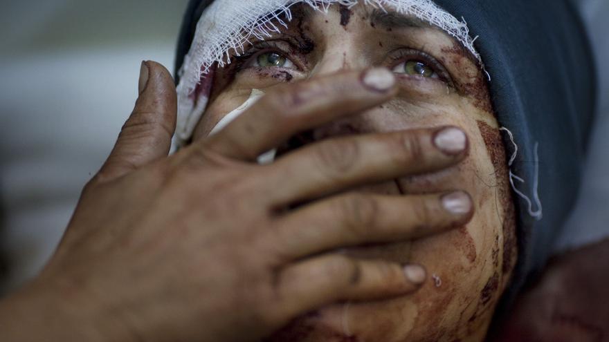 Primer premio en la categoría de noticias generales en el World Photo Press / Rodrigo Abd