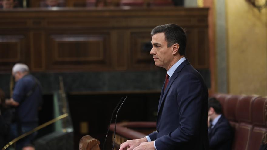 Pedro Sánchez, en su última comparecencia en el Congreso antes del 28-A.