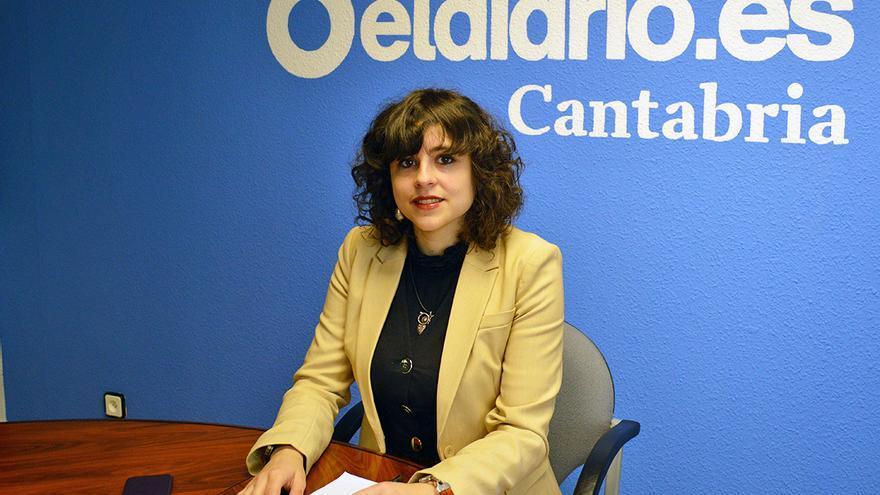 La secretaria general de Podemos Santander, Lydia Alegría.   R.A.