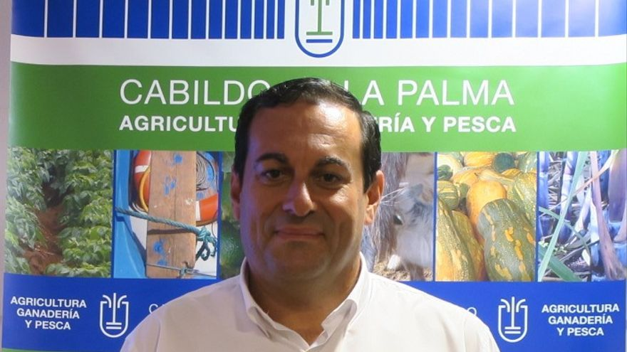 José Basilio Rodríguez,  consejero de Agricultura, Ganadería y Pesca del Cabildo de La Palma.