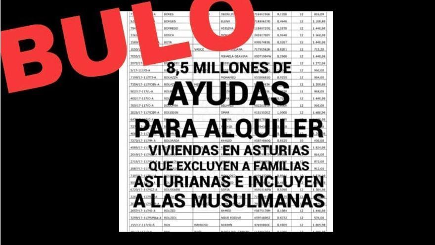 Bulo sobre ayudas al alquiler en Asturias