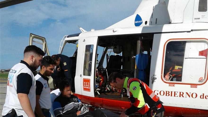 Rescatado en helicóptero un escalador que se rompió la tibia en Picos de Europa