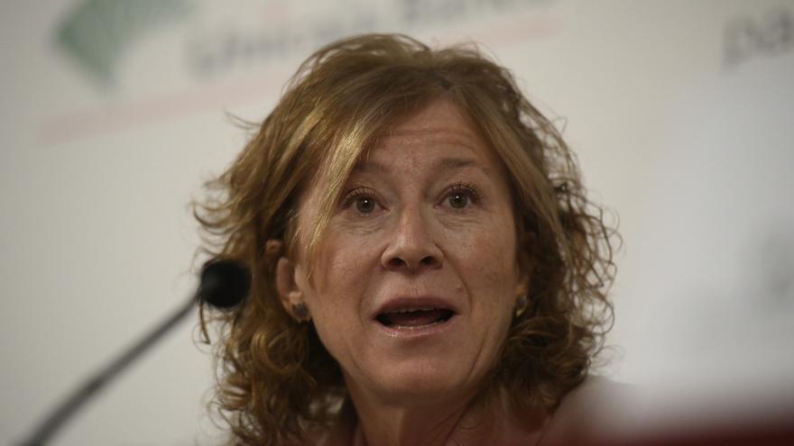 La subgobernadora del Banco de España, Margarita Delgado, durante su intervención en un desayuno informativo sobre 'La Unión Bancaria Europea' organizado por el Club de Diálogos para la Democracia, en Madrid (España), a 14 de enero de 2020.
