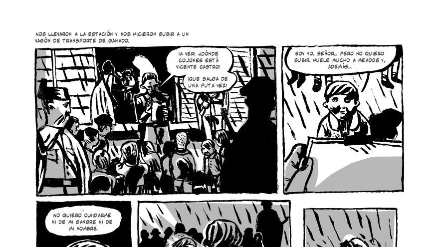 El contrastado dibujo de sus viñetas sirve para transmitir la gravedad de los hechos que se narran