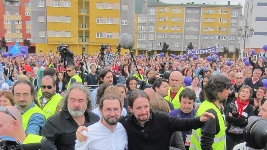 """Pablo Iglesias: """"Necesitamos esas agallas asturianas en toda España para reconquistar los derechos sociales"""""""