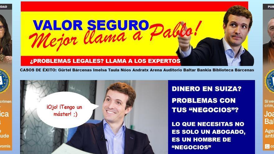 Compromís ha utilizado el lema del PP para criticar su actuación contra la corrupción