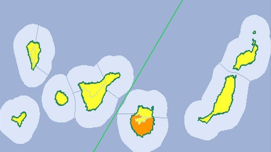 La Aemet eleva el aviso de amarillo a naranja en Gran Canaria por altas temperaturas