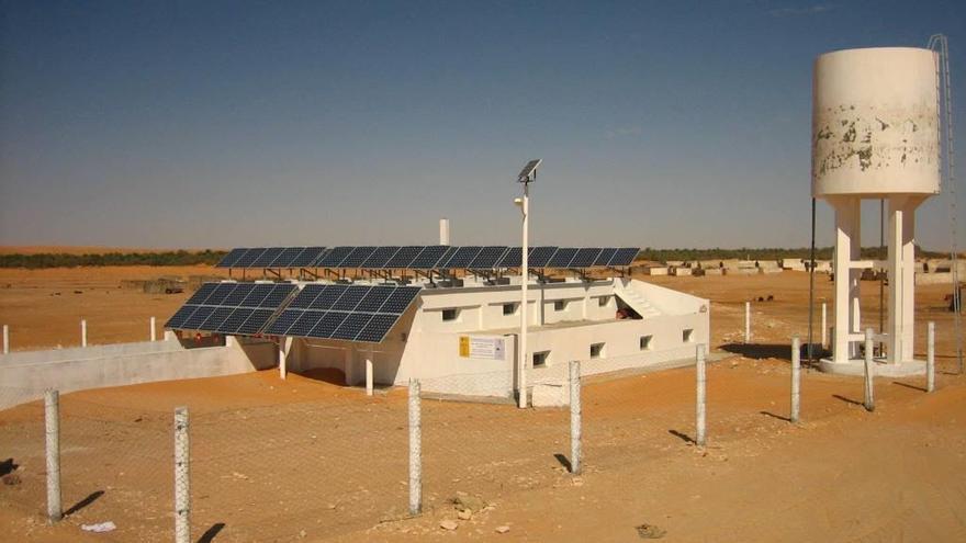 Desaladora en el pueblo tunecino de Ksar Ghilène.