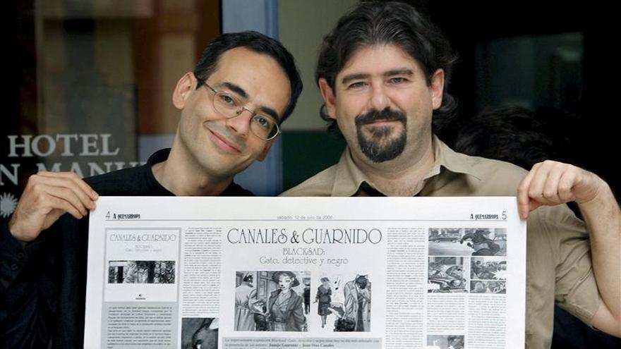 """Juan Díaz Canales y Juanjo Garnido, Premio Nacional del Cómic por """"Blacksad"""""""