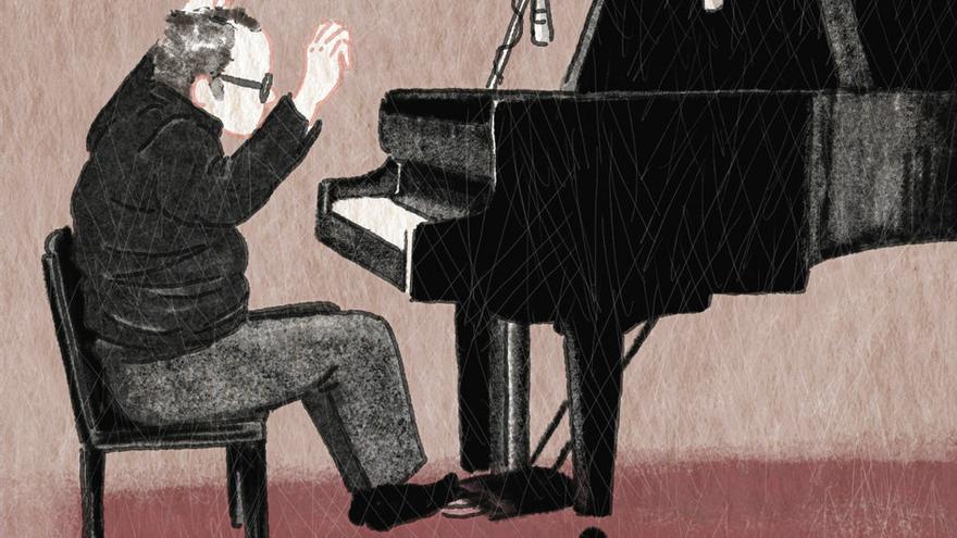 Glenn Gould en el piano