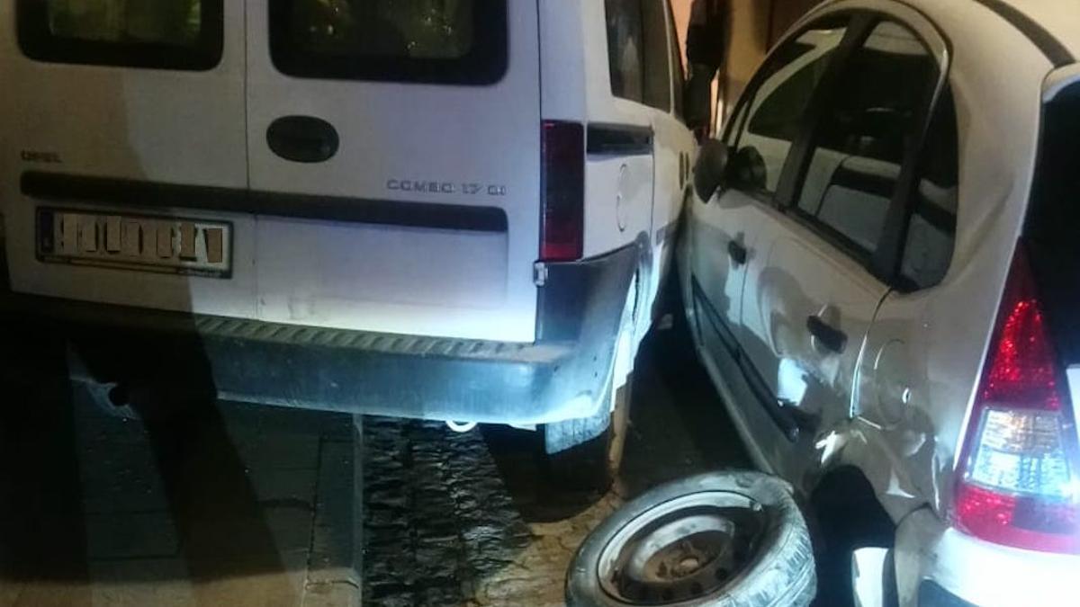 Imagen del accidente en Baena.