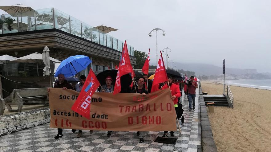 Concentración de socorristas en Vigo