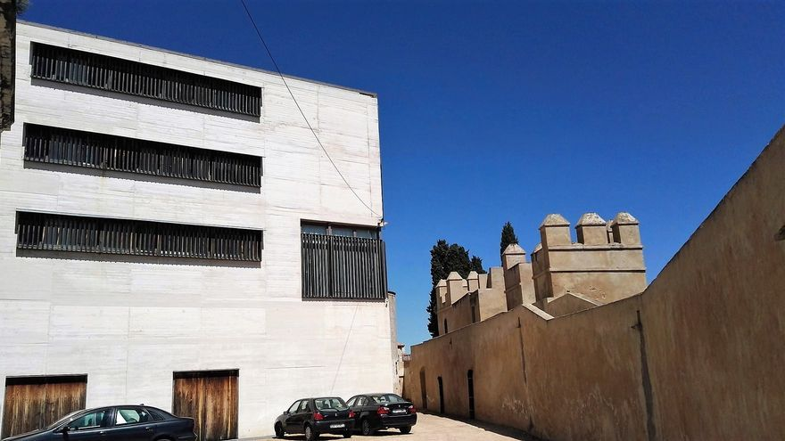 Edificio del 'Cubo', ubicado en el recinto de la Alcazaba