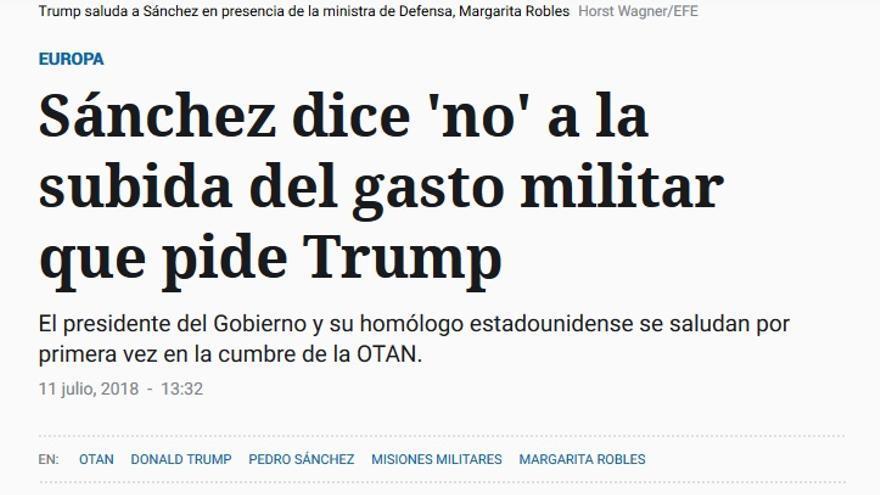 Español gasto militar