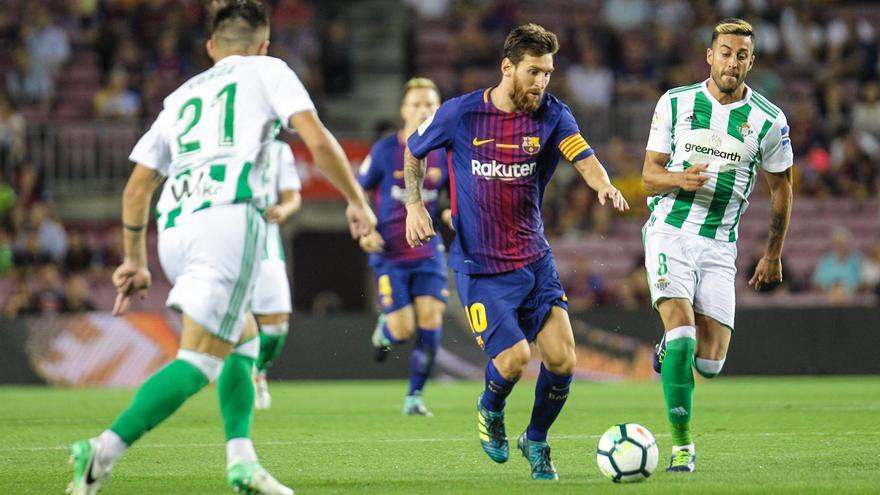 Imagen del partido liguero entre el Barcelona y el Betis.