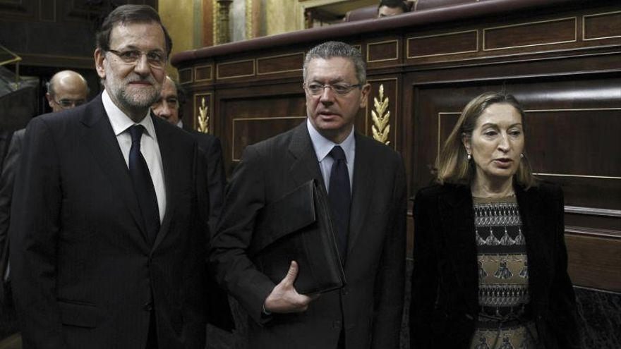 Rajoy, Ruiz-Gallardón y Pastor.