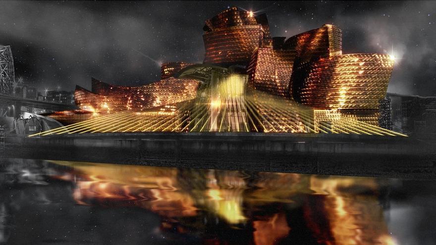El Guggenheim inicia este miércoles las proyecciones del espectáculo audiovisual al aire libre por su XX aniversario