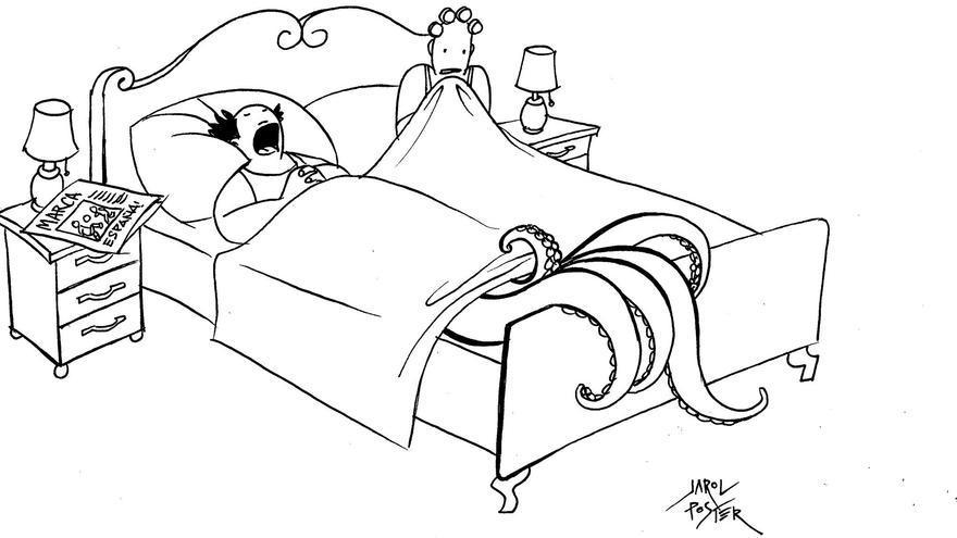 """""""Empresario murciano durmiendo plácidamente después de haberse metido en el Mar Menor diciendo que era apto para el baño"""""""