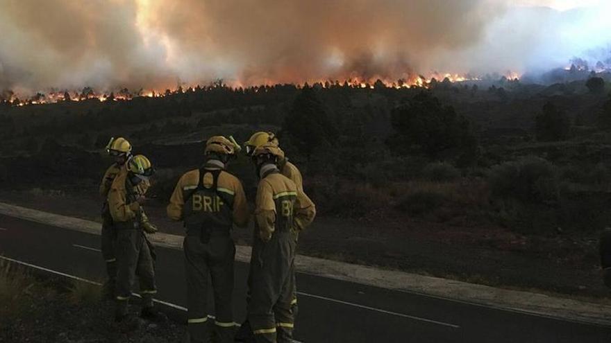Imagen del incendio de 2016 en La Palma.