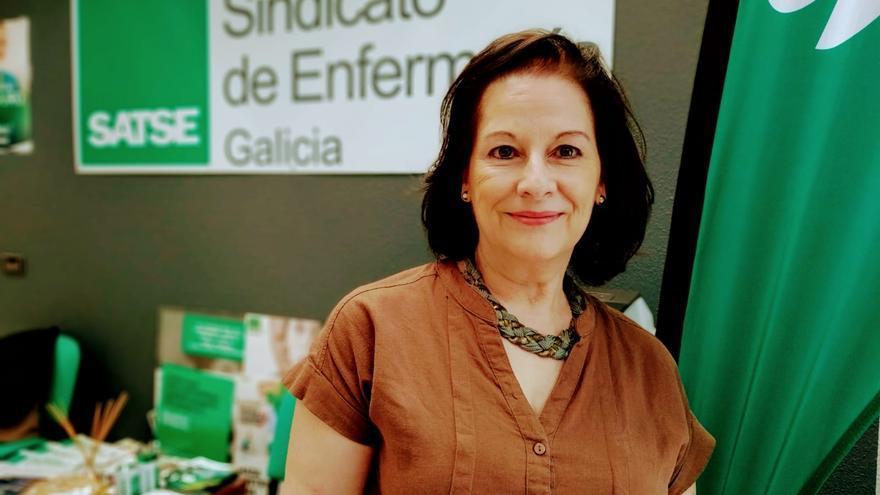 La secretaria general de Satse en Galicia, Carmen García Rivas
