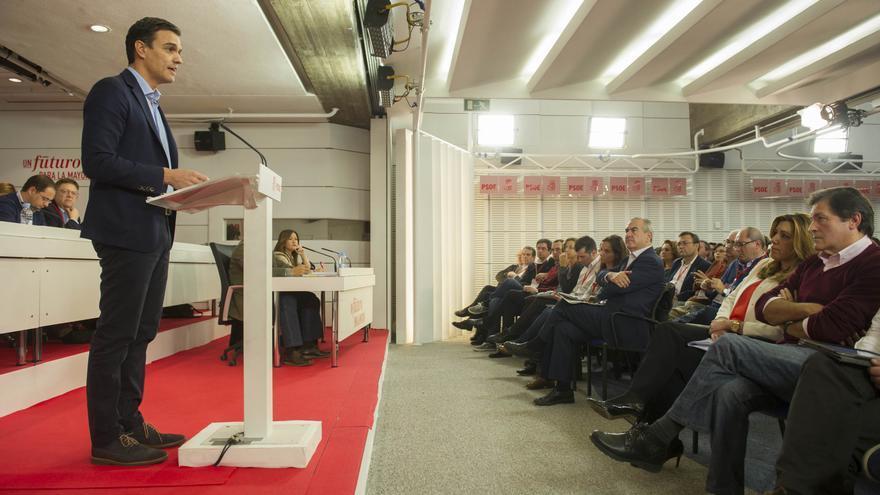 Pedro Sánchez durante su intervención ante el Comité Federal del PSOE / Foto: Flicker PSOE