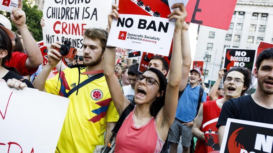 Protesta en Nueva York contra la política migratoria de Trump