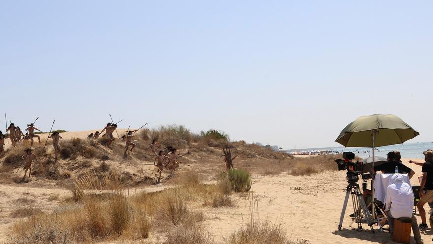 La playa del Nuevo Portil (Huelva) acoge el fin del rodaje de 'Sin límites'