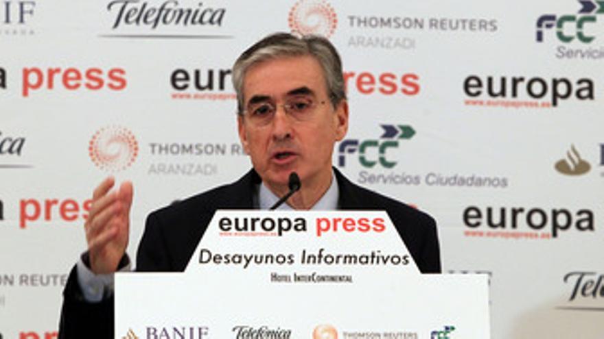 Jáuregui, en los desayunos informativos de Europa Press. (EUROP PRESS)