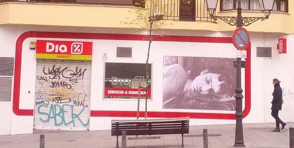 Obra de Rolling Habits Street en la calle San Bernardo | Foto: Somos Malasaña