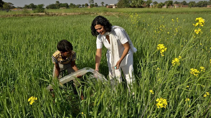 Reyes Tirado en India © Swapan Nayak / Greenpeace