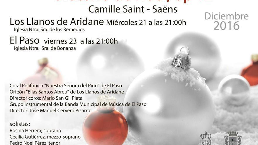 Cartel del concierto del 'Oratorio de Navidad'.