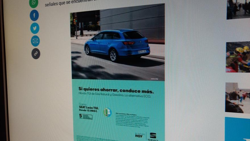 Publicidad sosteniblemente contradictoria.