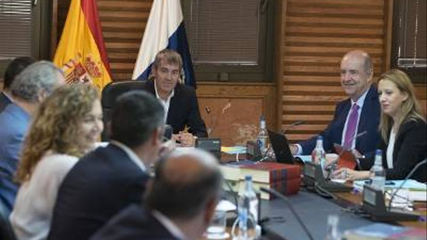 Reunión del Consejo de Gobierno de Canarias.