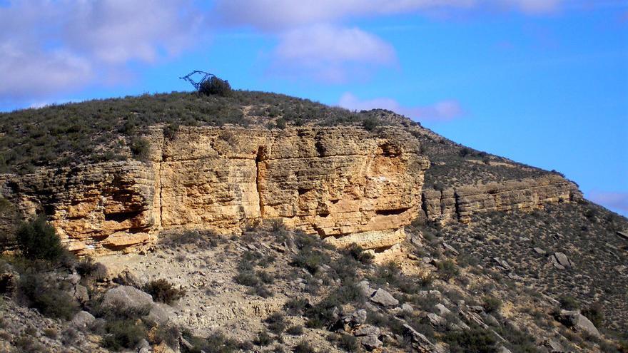 Afloramientos rocosos en Oliete (Teruel).