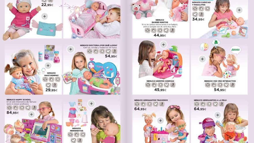 Captura del catálogo de juguetes de El Corte Inglés.