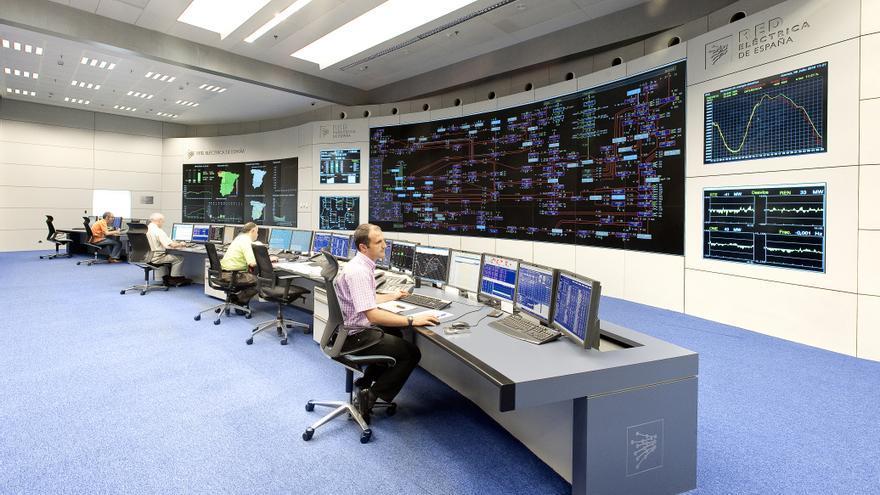 Sala de control de Red Eléctrica. Foto: REE