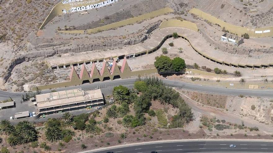 Ladera del Tívoli en la entrada de Las Palmas de Gran Canaria