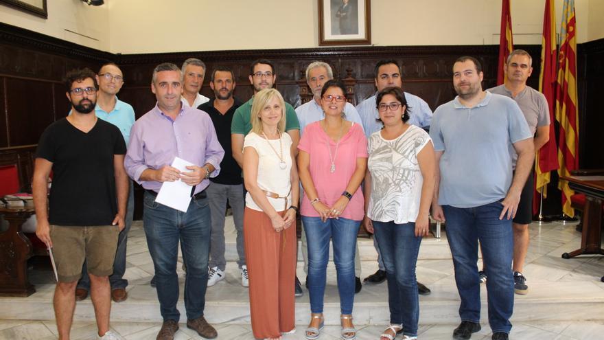 Els alcaldes van fer la signatura a Sagut